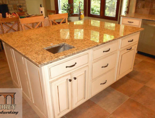 Kitchen Island with Waste Recepticle