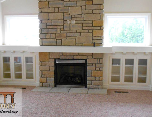 Fireplace Mantel and Cabinets